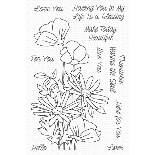 My Favorite Things FRESHLY PICKED BOUQUET Clear Stamps cs568 Preview Image