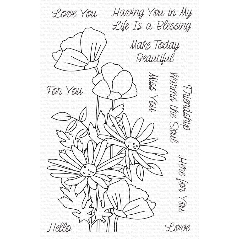 My Favorite Things FRESHLY PICKED BOUQUET Clear Stamps cs568 zoom image