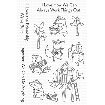 My Favorite Things LET'S WORK TOGETHER Clear Stamps cs566