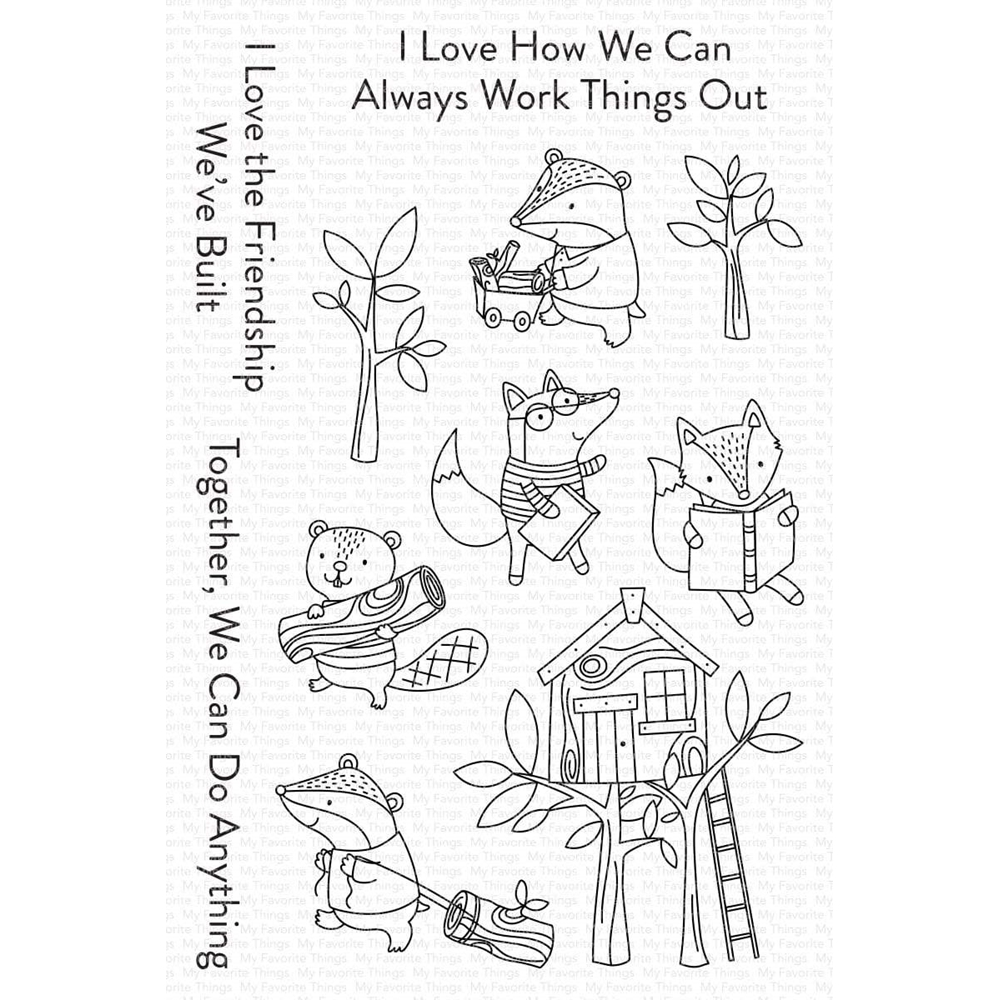 My Favorite Things LET'S WORK TOGETHER Clear Stamps cs566 zoom image