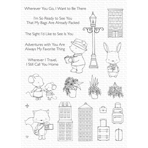 My Favorite Things TRAVEL PLANS Clear Stamps sy32 Preview Image