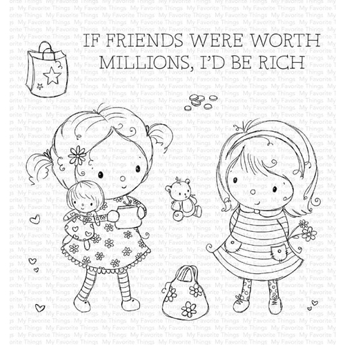 My Favorite Things MILLION DOLLAR FRIENDS Clear Stamps ram014 Preview Image