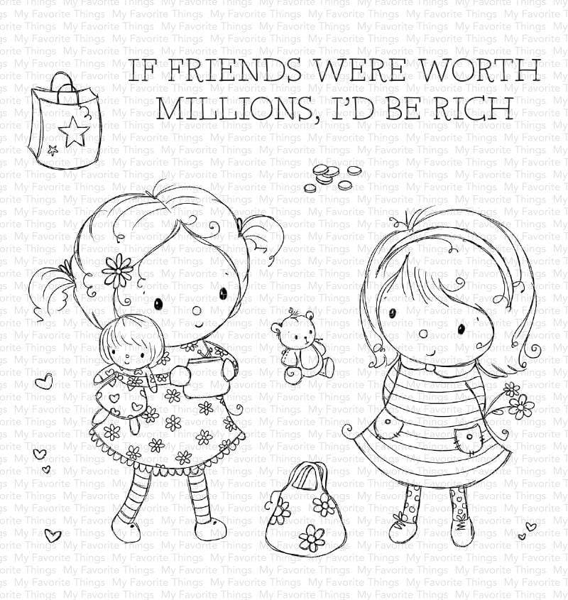 My Favorite Things MILLION DOLLAR FRIENDS Clear Stamps ram014 zoom image