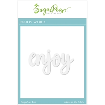 SugarPea Designs ENJOY WORD SugarCuts Dies spd00524