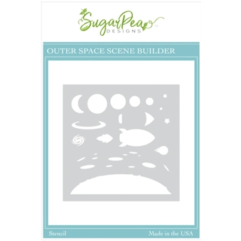 SugarPea Designs OUTER SPACE SCENE BUILDER Stencil spd00521