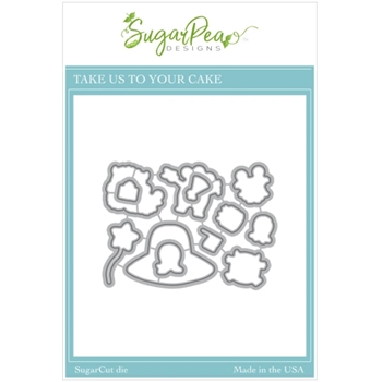 SugarPea Designs TAKE US TO YOUR CAKE SugarCuts Dies spd00520