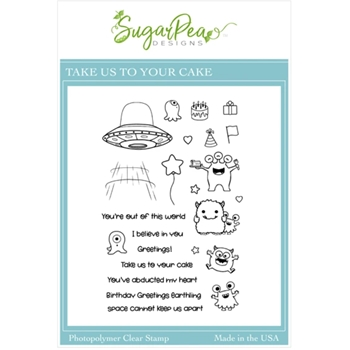 SugarPea Designs TAKE US TO YOUR CAKE Clear Stamp Set spd00519