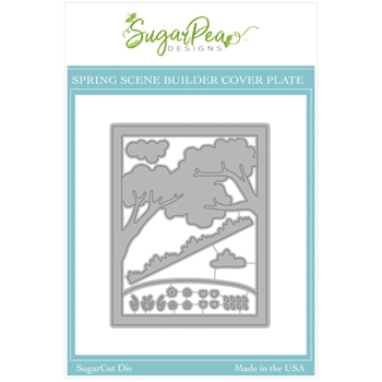 SugarPea Designs SPRING SCENE BUILDER COVER PLATE SugarCuts Dies spd00517