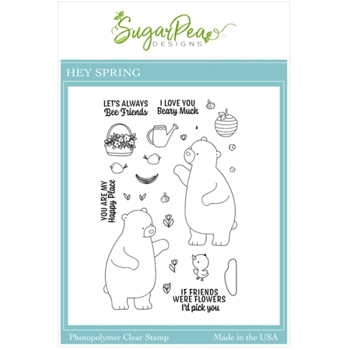 SugarPea Designs HEY SPRING Clear Stamp Set spd00515