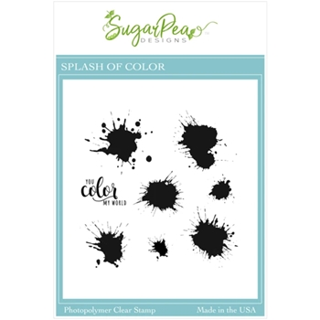 SugarPea Designs SPLASH OF COLOR Clear Stamp Set spd00511