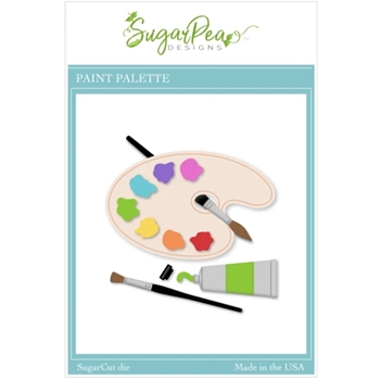 SugarPea Designs PAINT PALETTE SugarCuts Dies spd00510