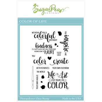 SugarPea Designs COLOR OF LIFE Clear Stamp Set spd00509