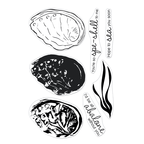 Hero Arts Clear Stamps COLOR LAYERING ABALONE CM543 Preview Image