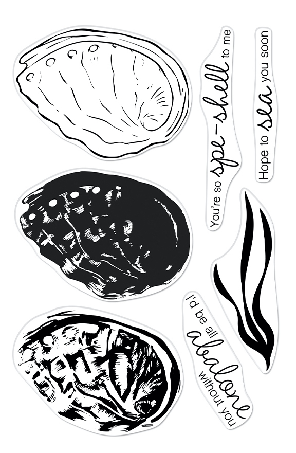 Hero Arts Clear Stamps COLOR LAYERING ABALONE CM543 zoom image