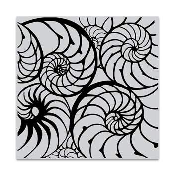 Hero Arts Cling Stamp NAUTILUS PATTERN BOLD PRINTS CG850