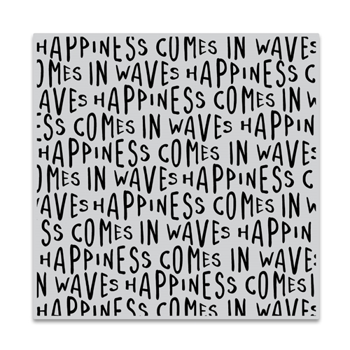 Hero Arts Cling Stamp HAPPINESS WAVES BOLD PRINTS CG849 Preview Image