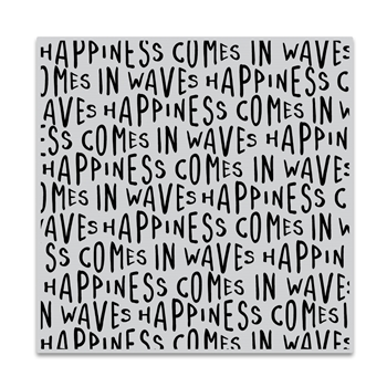Hero Arts Cling Stamp HAPPINESS WAVES BOLD PRINTS CG849