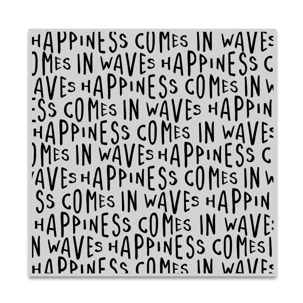 Hero Arts Cling Stamp HAPPINESS WAVES BOLD PRINTS CG849 zoom image