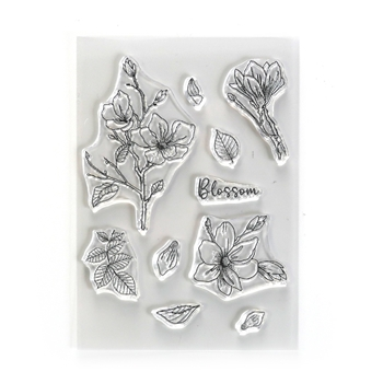 Elizabeth Craft Designs Clear Stamps BLOSSOM cs224