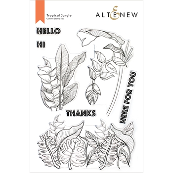 Altenew TROPICAL JUNGLE Clear Stamps ALT6108