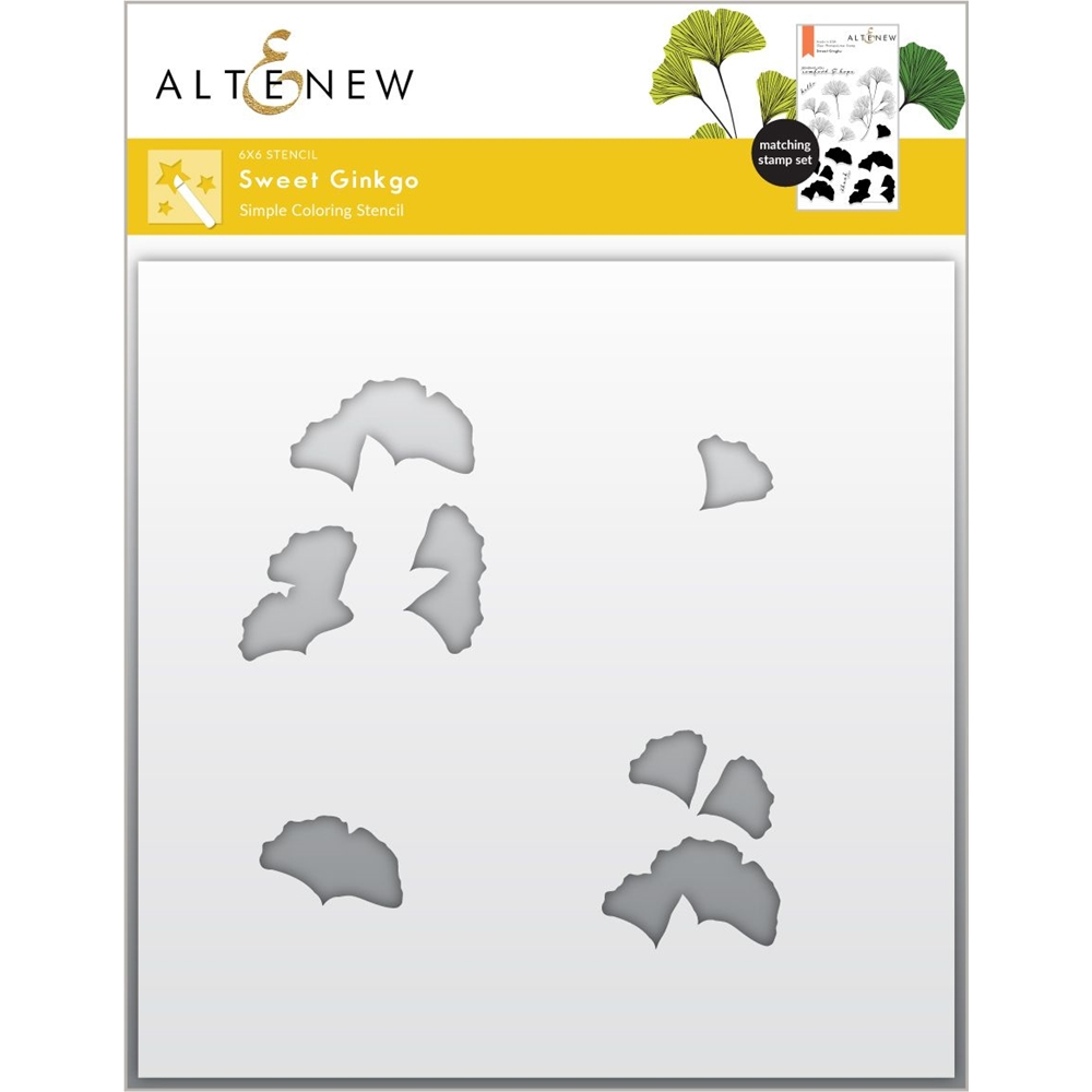 Altenew SWEET GINKGO Simple Coloring Stencil ALT6105 zoom image