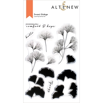 Altenew SWEET GINKGO Clear Stamps ALT6103