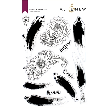 Altenew PAINTED RAINBOW Clear Stamps ALT6100
