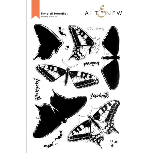 Altenew DOVETAIL BUTTERFLY Clear Stamps ALT6094 Preview Image