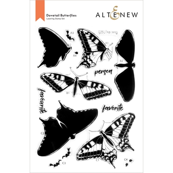 Altenew DOVETAIL BUTTERFLY Clear Stamps ALT6094