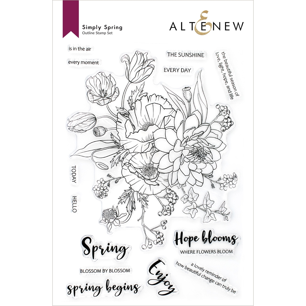 Altenew SIMPLY SPRING Clear Stamps ALT6090 zoom image