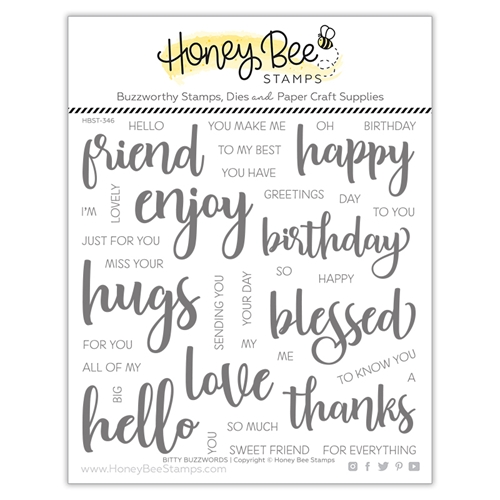 Honey Bee BITTY BUZZWORDS Clear Stamp Set hbst346 ** Preview Image
