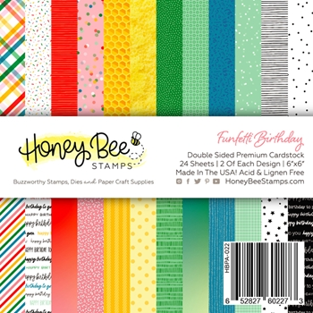 Honey Bee FUNFETTI BIRTHDAY 6 x 6 Paper Pad hbpa022