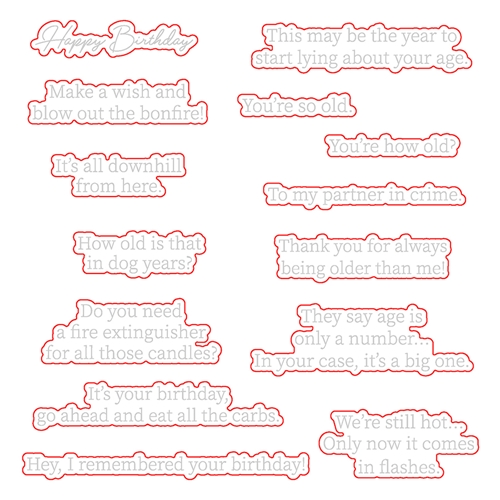 Honey Bee INSIDE SNARKY BIRTHDAY SENTIMENTS Dies hbds332 Preview Image