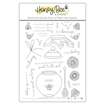 Honey Bee JUST BEECAUSE Clear Stamp Set hbst347