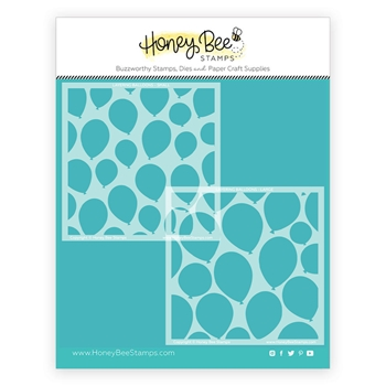 Honey Bee LAYERING BALLOONS Stencil Set Of 2 hbsl086