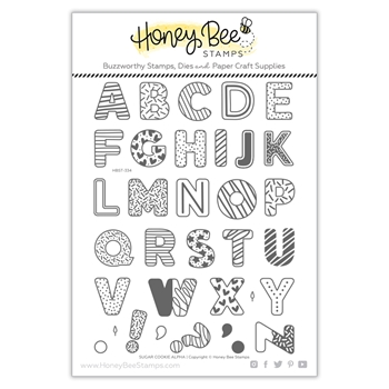 Honey Bee SUGAR COOKIE ALPHABET Clear Stamp Set hbst334
