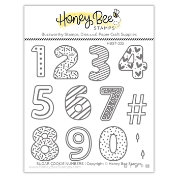 Honey Bee SUGAR COOKIE NUMBERS Clear Stamp Set hbst335