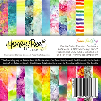 Honey Bee TEAM TIE DYE 6 x 6 Paper Pad hbpa023