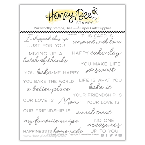 Honey Bee YOU BAKE ME HAPPY Clear Stamp Set hbst336 Preview Image