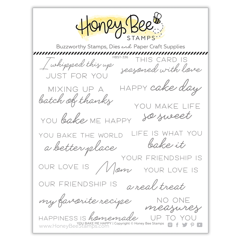 Honey Bee YOU BAKE ME HAPPY Clear Stamp Set hbst336 zoom image