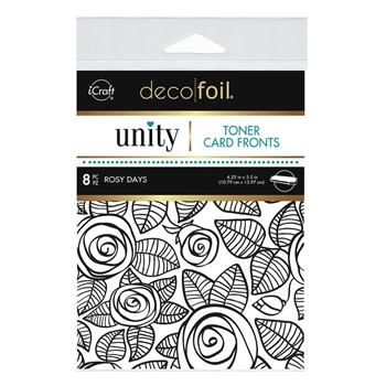 Therm O Web Unity ROSY DAYS DecoFoil Toner Card Fronts 19075