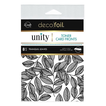 Therm O Web Unity TRANQUIL LEAVES DecoFoil Toner Card Fronts 19077