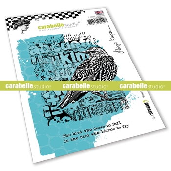 Carabelle Studio LEARN TO FLY Cling Stamps sa60542e*