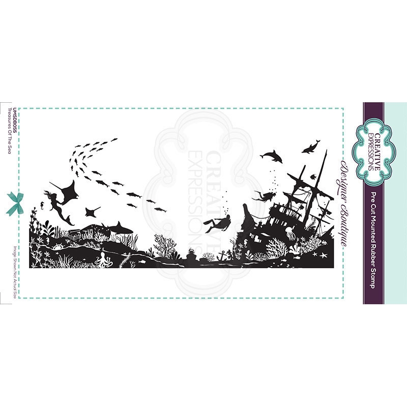 Creative Expressions TREASURES OF THE SEA Cling Stamp umsdb055 zoom image