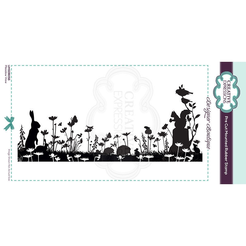 Creative Expressions MEADOW VIEW Cling Stamp umsdb056 zoom image