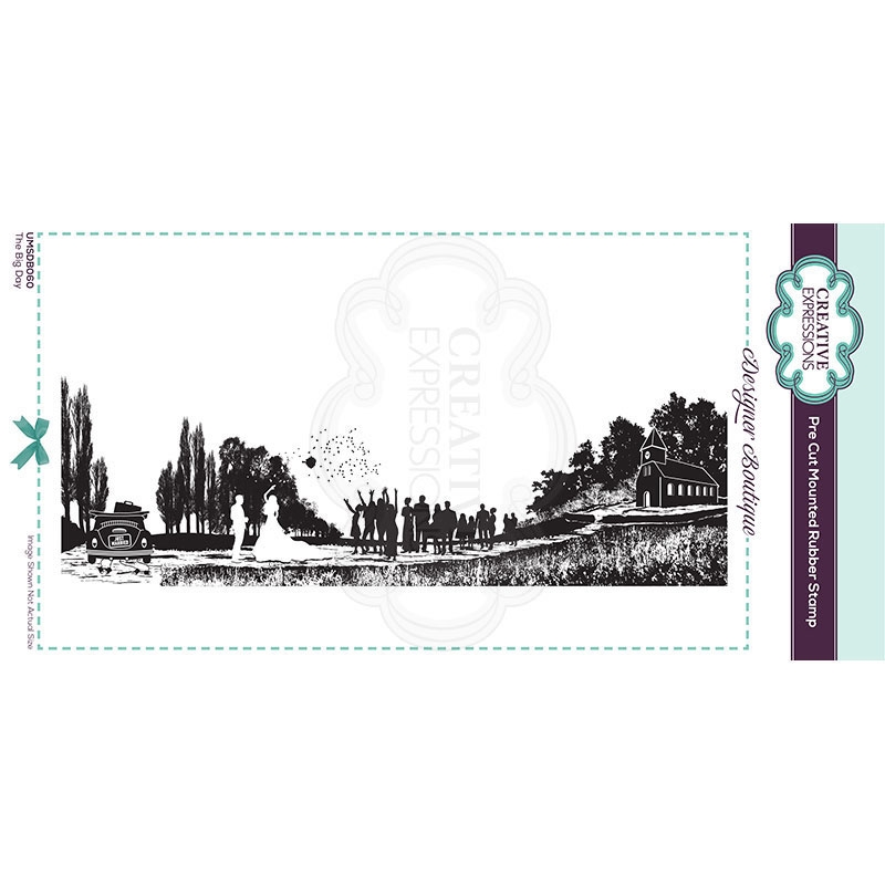 Creative Expressions THE BIG DAY Cling Stamp umsdb060 zoom image