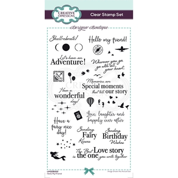 Creative Expressions HELLO MY FRIEND Clear Stamp Set umsdb062