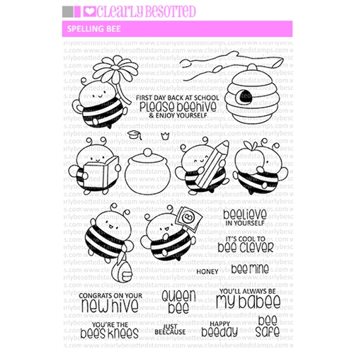 Clearly Besotted SPELLING BEE Clear Stamps Preview Image