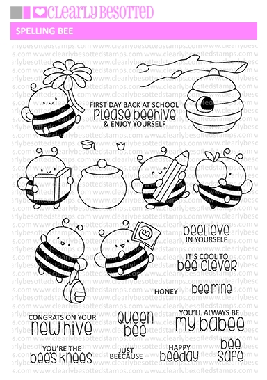 Clearly Besotted SPELLING BEE Clear Stamps zoom image