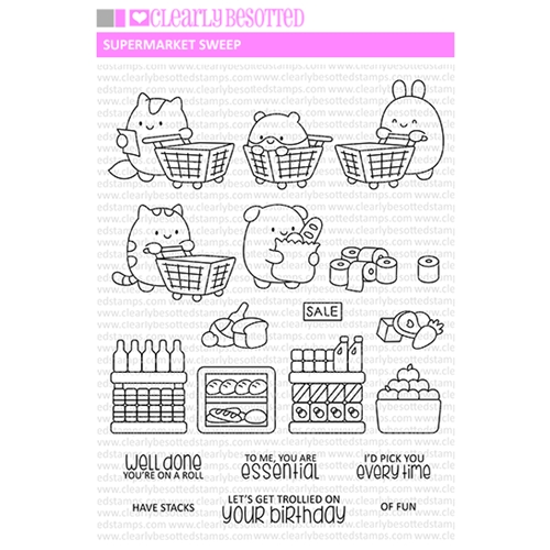 Clearly Besotted SUPERMARKET SWEEP Clear Stamps Preview Image